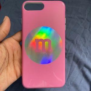 Pink M&M iPhone 8 Plus Case